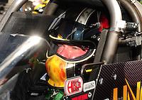 May 15, 2011; Commerce, GA, USA: NHRA top fuel dragster driver Terry McMillen during the Southern Nationals at Atlanta Dragway. Mandatory Credit: Mark J. Rebilas-