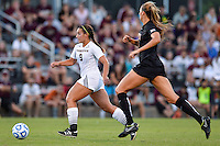Texas State forward Kassi Hormuth (9) on attack against Texas during NCAA soccer game, Sunday, September 21, 2014 in San Marcos, Tex. Texas defeated Texas State 2-0. (Mo Khursheed/TFV Media via AP Images)