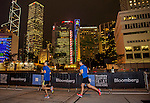 Athletes in action during the Bloomberg Square Mile Relay Hong Kong 2014 on November 06, 2014 at Central in Hong Kong, China. Photo by Chung Yan Man / Power Sport Images