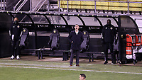 COLUMBUS, OH - DECEMBER 12: Head coach Caleb Porter of the Columbus Crew yells instructions to his team during a game between Seattle Sounders FC and Columbus Crew at MAPFRE Stadium on December 12, 2020 in Columbus, Ohio.