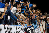 Jason Hernandez acknowledges the fans after the game. The San Jose Earthquakes tied DC United 2-2 at Buck Shaw Stadium in Santa Clara, California on July 25, 2009.