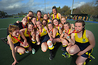 Silver medalists Wairarapa College. 2020 Lower North Island Secondary Schools Hockey Girls Premiership tournament final between Wellington Girls' College and Wairarapa College at Fitzherbert Park Twin Turfs in Palmerston North, New Zealand on Friday, 4 September 2020. Photo: Dave Lintott / lintottphoto.co.nz