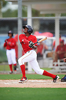 GCL Red Sox right fielder Chad Hardy (63) at bat during the second game of a doubleheader against the GCL Rays on August 9, 2016 at JetBlue Park in Fort Myers, Florida.  GCL Rays defeated GCL Red Sox 9-1.  (Mike Janes/Four Seam Images)