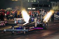 Jun. 17, 2011; Bristol, TN, USA: NHRA top fuel driver Pat Dakin during qualifying for the Thunder Valley Nationals at Bristol Dragway. Mandatory Credit: Mark J. Rebilas-