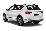 Car pictures of rear three quarter view of 2020 Seat Tarraco FR 5 Door SUV Angular Rear