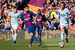 Luis Suarez of FC Barcelona (C) in action during the La Liga 2017-18 match between FC Barcelona and RC Celta de Vigo at Camp Nou Stadium on 02 December 2017 in Barcelona, Spain. Photo by Vicens Gimenez / Power Sport Images