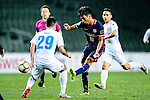 FC Kitchee Midfielder Ka Wai Lam (r) attempts for a kick during the AFC Champions League 2017 Preliminary Stage match between  Kitchee SC (HKG) vs Hanoi FC (VIE) at the Hong Kong Stadium on 25 January 2017 in Hong Kong, Hong Kong. Photo by Marcio Rodrigo Machado/Power Sport Images