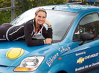07-09-11, Tennis, Alphen aan den Rijn, Tean International, Bibiane Schoofs op haar gesponsorde auto