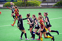 Central Otago v Southland. 2021 National Women's Under-18 Hockey Tournament day six at National Hockey Stadium in Wellington, New Zealand on Friday, 16 July 2021. Photo: Dave Lintott / lintottphoto.co.nz https://bwmedia.photoshelter.com/gallery-collection/Under-18-Hockey-Nationals-2021/C0000T49v1kln8qk