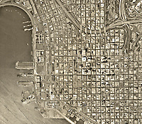historical aerial photograph San Diego, California, 1972