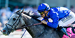 June 5, 2021: Althiqa, #8, ridden by jockey Mike Smith, wins the Longines Just a Game Stakes on Belmont Stakes Day at the Belmont Stakes Festival at Belmont Park in Elmont, New York. Alex Evers/Eclipse Sportswire/CSM
