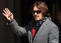 JUL 21 Johnny Depp at the Royal Courts of Justice