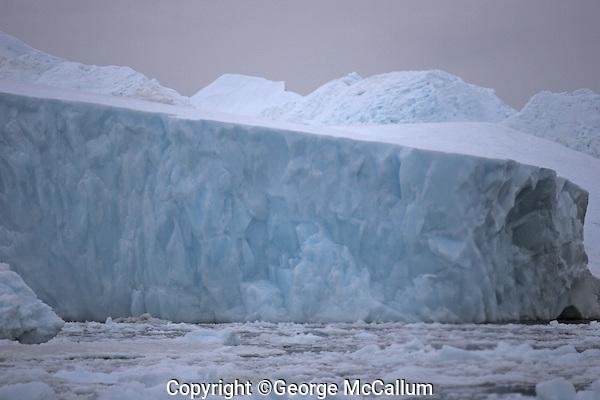Grounded Iceberg in Icefjord, world heritage site, Disco bay, Ilulissat, Greenland