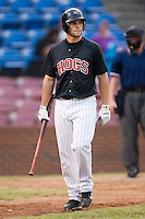 Winston-Salem outfielder Daron Roberts (16) walks back to the dugout after striking out versus Frederick at Ernie Shore Field in Winston-Salem, NC, Wednesday, August 15, 2007.