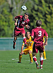 18 September 2011: Harvard University Crimson Forward Zack Wolfenzon, a Junior from San Diego, CA, in action against the University of Vermont Catamounts at Centennial Field in Burlington, Vermont. The Catamounts shut out the visiting Crimson 1-0, earning their 3rd straight victory of the 2011 season. Mandatory Credit: Ed Wolfstein Photo