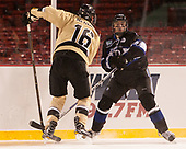 Brendan McGuire (Army - 16), Tyler Deresky (Bentley - 11) - The Bentley University Falcons defeated the Army West Point Black Knights 3-1 (EN) on Thursday, January 5, 2017, at Fenway Park in Boston, Massachusetts.The Bentley University Falcons defeated the Army West Point Black Knights 3-1 (EN) on Thursday, January 5, 2017, at Fenway Park in Boston, Massachusetts.