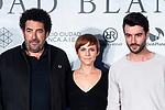 Director Daniel Calparsoro, actress Aura Garrido and actor Javier Rey attends presentation of 'El silencio de la Ciudad Blanca' during FestVal in Vitoria, Spain. September 05, 2018. (ALTERPHOTOS/Borja B.Hojas)