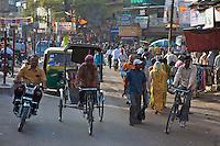 Street Secene in Varanasi India's holiest city.