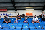 Home fans with masks. Kilmarnock 2 Ayr United 0, Scottish Championship, August 2nd 2021. Following Kilmarnock's relegation in 2020-21, the first game of the new season is the Ayreshire Derby, the first league match between the teams in 28 years. Due to relaxation of Covid restrictions the match was played in front of a crowd of 3200 Kilmarnock fans. The game was shown live on BBC Scotland.