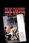 """An inside page on top of the cover to the Los Angeles Times book """"Understanding the Riots."""""""