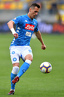 Arkadiusz Milik of Napoli in action during the Serie A 2018/2019 football match between Frosinone and SSC Napoli at stadio Benito Stirpe, Frosinone, April 28, 2019 <br /> Photo Andrea Staccioli / Insidefoto