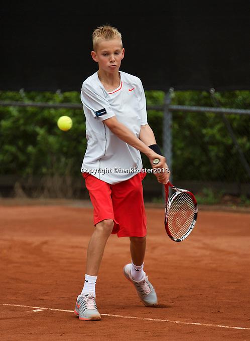 07-08-13, Netherlands, Rotterdam,  TV Victoria, Tennis, NJK 2013, National Junior Tennis Championships 2013, Mike Diks   <br /> <br /> <br /> Photo: Henk Koster