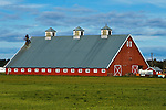 Big red barn, Dungeness, Olympic Pennisula, Washington State