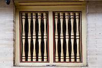 Yogyakarta, Java, Indonesia.  Javanese-style Window in the Great Mosque, Masjid Gedhe Kauman, mid-18th. Century.