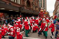 Santa Claus Parade in downtown Montreal, November21, 2015,<br /> <br /> <br /> PHOTO : Michel Karpoff - Agence Quebec Presse