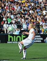 Katie Larkin. The Los Angeles Sol defeated FC Gold Pride, 2-0, at Buck Shaw Stadium in Santa Clara, CA on May 24, 2009.