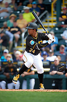 Pittsburgh Pirates left fielder Cole Figueroa (24) at bat during a Spring Training game against the Toronto Blue Jays  on March 3, 2016 at McKechnie Field in Bradenton, Florida.  Toronto defeated Pittsburgh 10-8.  (Mike Janes/Four Seam Images)