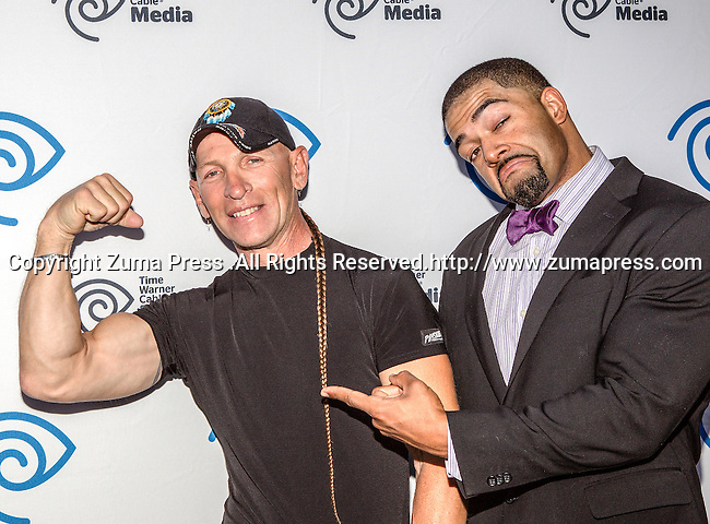 Jay Paul Molinere and David Otunga at the Time Warner Media Cabletime Upfront media event held at the Private Social Restaurant  in Dallas, Texas.