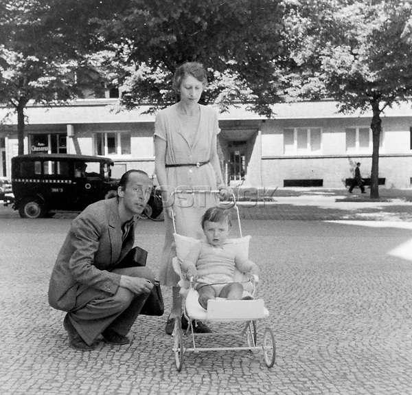 Anonymous, Vladimir and Vera Nabokov and their son, Dmitri, Photograph, 1935, Private Collection.