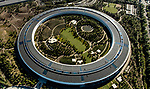 Apple Park building headquarters for Apple Inc. at 1 Apple Park Way, Cupertino, California aerial - Copyright 2018 David Oppenheimer - Performance Impressions aerial photography archives - www.performanceimpressions.com