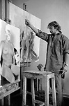 Slade school of art  London. Life class 1977.<br />