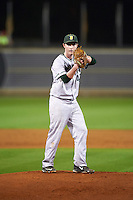 Siena Saints starting pitcher Tommy Miller (42) gets ready to deliver a pitch during a game against the UCF Knights on February 17, 2017 at UCF Baseball Complex in Orlando, Florida.  UCF defeated Siena 17-6.  (Mike Janes/Four Seam Images)