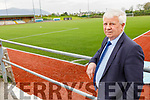 John O'Regan, Secretary of the Kerry District Soccer league standing in Mounthawk Park on Tuesday