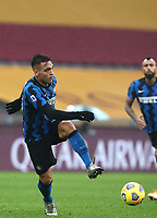 Football, Serie A: AS Roma -  FC Internazionale Milano, Olympic stadium, Rome, January 10, 2021. <br /> Inter's Lautaro Martinez in action during the Italian Serie A football match between Roma and Inter at Rome's Olympic stadium, on January 10, 2021.  <br /> UPDATE IMAGES PRESS/Isabella Bonotto
