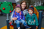 Enjoying the playground in Killarney National park on Friday, l to r: Diane, Lauren and Owen Casey.