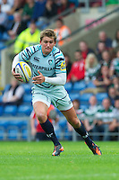 Toby Flood of Leicester Tigers in action during the Aviva Premiership match between London Welsh and Leicester Tigers at the Kassam Stadium on Sunday 2nd September 2012 (Photo by Rob Munro)