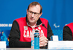 Sochi, RUSSIA - Mar 5 2014 -  Ozzie Sawicki at Canada's flag bearer announcement prior to the Sochi 2014 Paralympic Winter Games in Sochi, Russia.  (Photo: Matthew Murnaghan/Canadian Paralympic Committee)