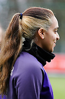Sakina Diki Ouzraoui (21 Anderlecht) during the warm up before a female soccer game between Standard Femina de Liege and RSC Anderlecht on the 9th matchday of the 2020 - 2021 season of Belgian Scooore Womens Super League , saturday 12 th of December 2020  in Angleur , Belgium . PHOTO SPORTPIX.BE | SPP | SEVIL OKTEM