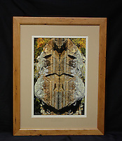 """""""The Granite Guardian: A Shoreline Reflection"""", hand-made cherry frame, conservation grade matting, TruVue Museum Glass. Contact us for availability."""