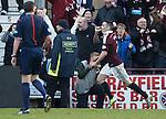 Jamie Walker celebrates his goal for Hearts