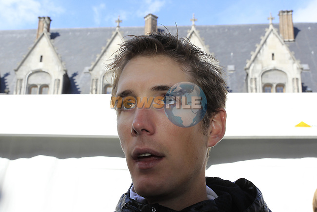 Andy Schleck (LUX) Radioshack-Nissan at the team presentations at the Palais Provincial in Liege city centre before the 98th edition of Liege-Bastogne-Liege 2012. 21st April 2012.  <br /> (Photo by Eoin Clarke/NEWSFILE).