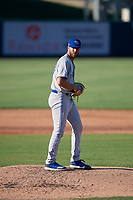 Dunedin Blue Jays starting pitcher Nick Allgeyer (29) during a Florida State League game against the Lakeland Flying Tigers on May 18, 2019 at Publix Field at Joker Marchant Stadium in Lakeland, Florida.  Dunedin defeated Lakeland 3-2 in eleven innings.  (Mike Janes/Four Seam Images)