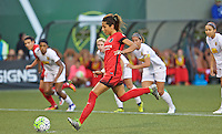 Portland, OR - Sunday Sept. 11, 2016: Nadia Nadim takes a PK during a regular season National Women's Soccer League (NWSL) match between the Portland Thorns FC and the Western New York Flash at Providence Park.