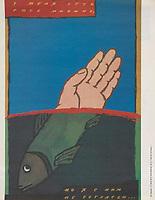 U menia est' svoe mnenie, no ia s nim nesoglasen; I have my own opinion, but I do not agree with it; 1988<br /> Perestroika Era Poster series, circa 1980-1989