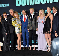 """LOS ANGELES, USA. December 11, 2019: Liv Hewson, John Lithgow, Connie Britton, Charles Randolph, Nicole Kidman, Margot Robbie & Charlize Theron at the premiere of """"Bombshell"""" at the Regency Village Theatre.<br /> Picture: Paul Smith/Featureflash"""