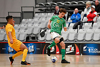 Guy Bayly of Central during the Men's Futsal SuperLeague, Central Futsal v Southern United Futsal at ASB Sports Centre, Wellington on Saturday 31 October 2020.<br /> Copyright photo: Masanori Udagawa /  www.photosport.nz